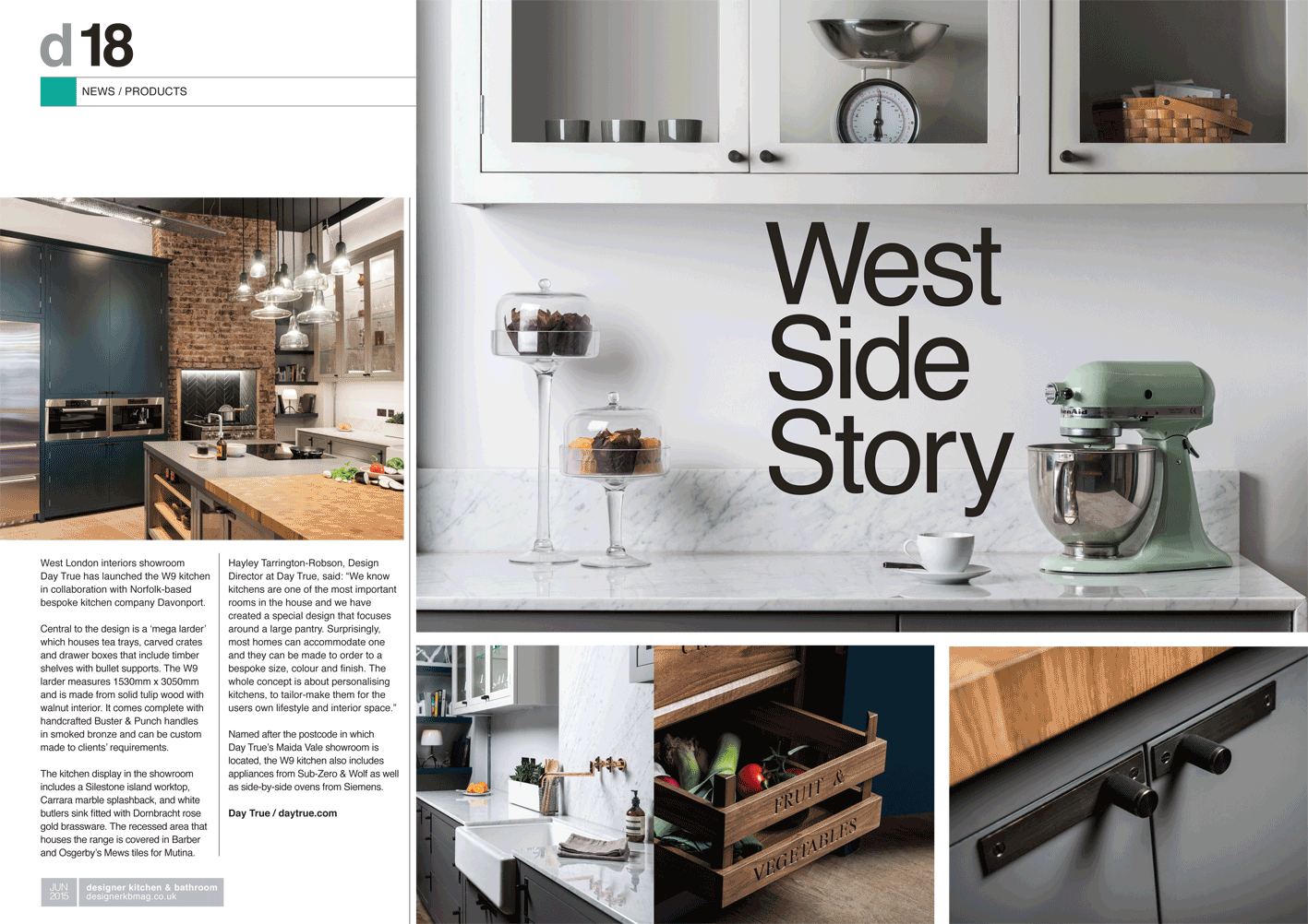 West london interiors show room day true has launched the w9 kitchen in collaboration with norfolk0based
