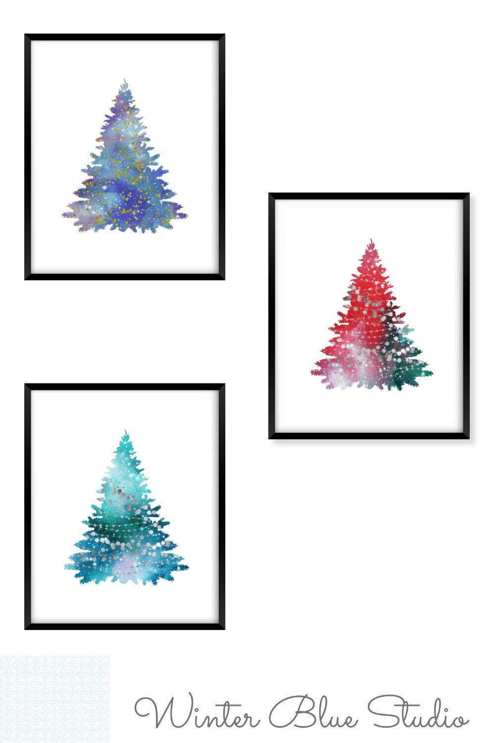 Christmas Printable Set Christmas Wall Decor 3 Piece Wall Etsy In 2021 Christmas Wall Decor Christmas Wall Art Christmas Printables