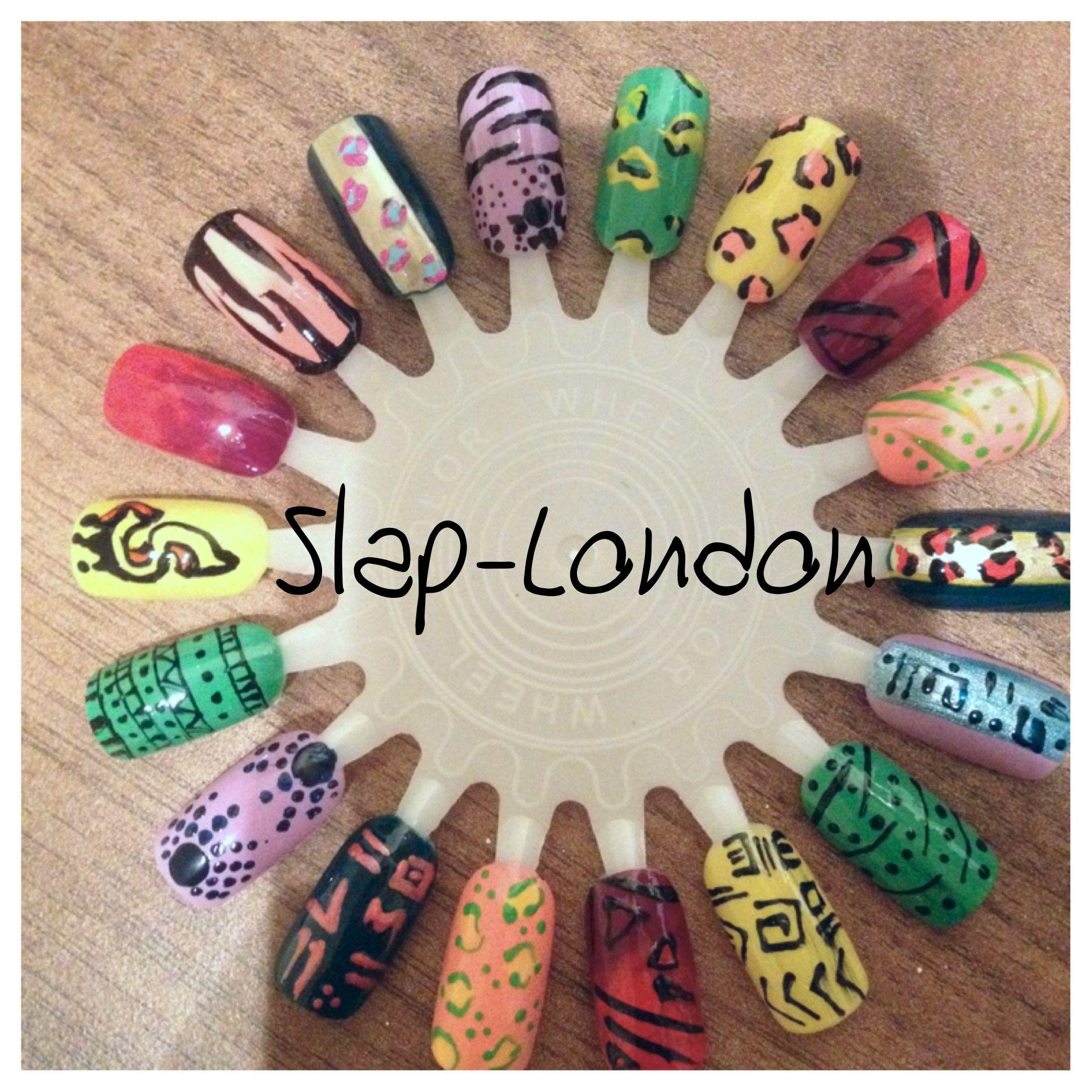 Nail wheel hand painted nail art | nail 2 | Pinterest | Painted nail ...