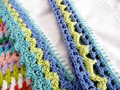 adding crochet stitches to a blanket | Crochet-Edges | Pinterest ...