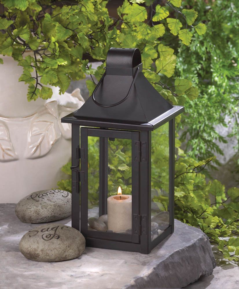 Small Outdoor Wedding Ideas On A Budget: Black Metal Malta Candle Lantern Holder Lamp Outdoor