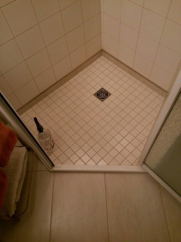 I Removed A Fibergl Shower Pan And Replaced It With Tiles