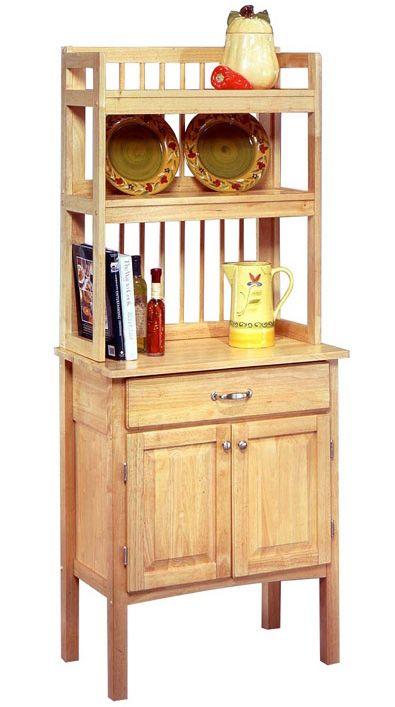 Merveilleux All Wood Bakers Rack Cabinet