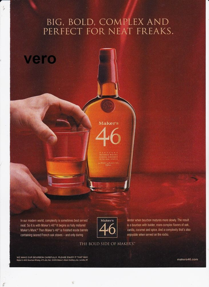 MAKERS MARK 2015 Magazine Ad Whisky Alcohol Advert Print Clipping 46