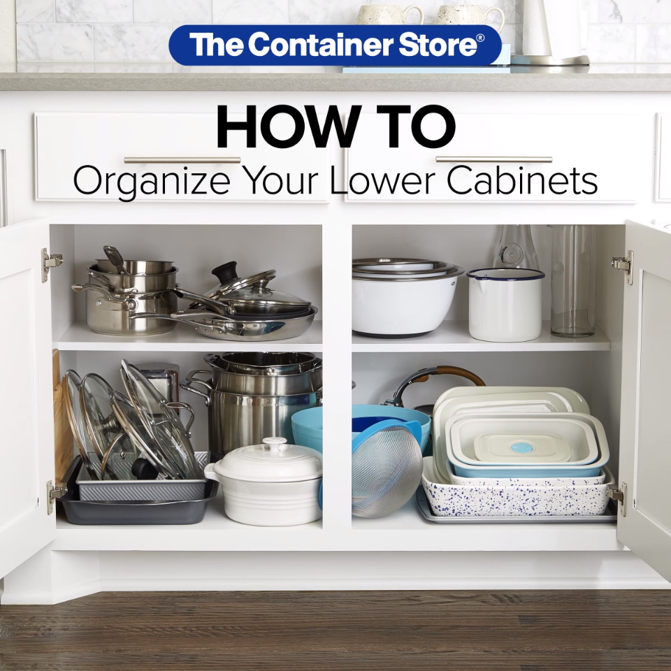 How To: Organize Your Lower Kitchen Cabinets Lower kitchen cabinets ...