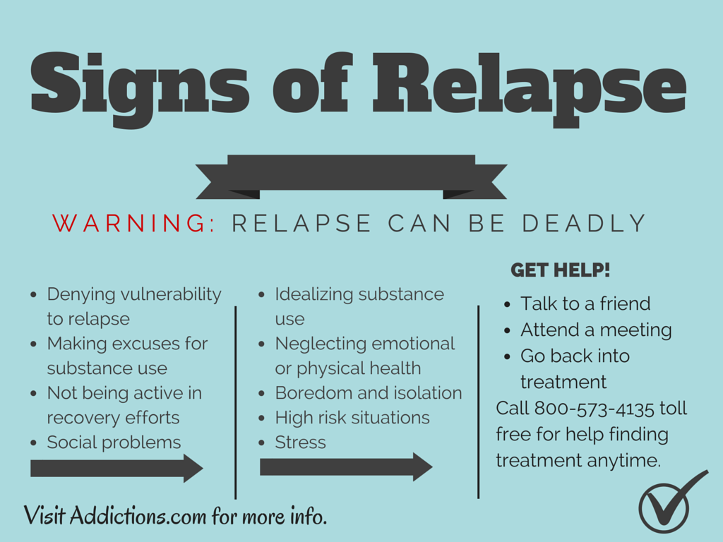It's important to be aware of the warning signs of relapse while working for addiction recovery.