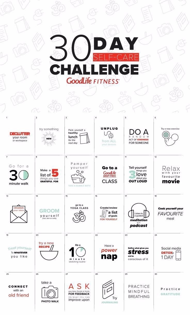 30 day self-care challenge | The GoodLife Fitness Blog - #Blog #Challenge #Day #fitness #GoodLife #s...