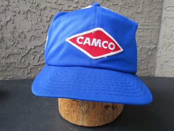 Camco Trucker Cap Mesh Snap Back Embroidered by GeekGirlRetro
