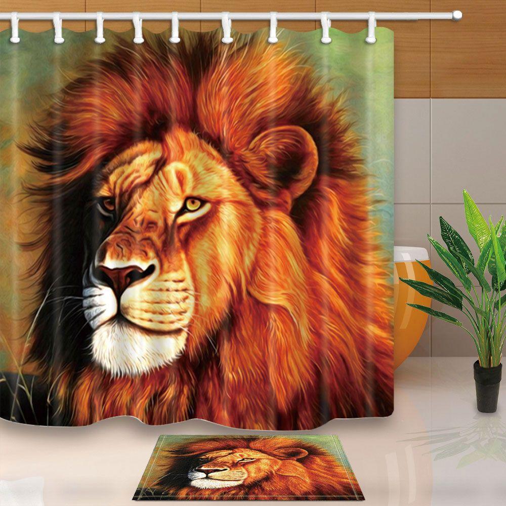 Lion King Waterproof Fabric Bathroom