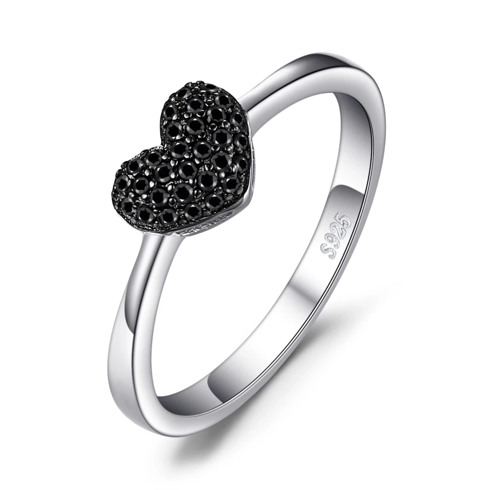925 Sterling Silver Gemstone Black Spinel Women /& Girls Wedding Anniversary Ring