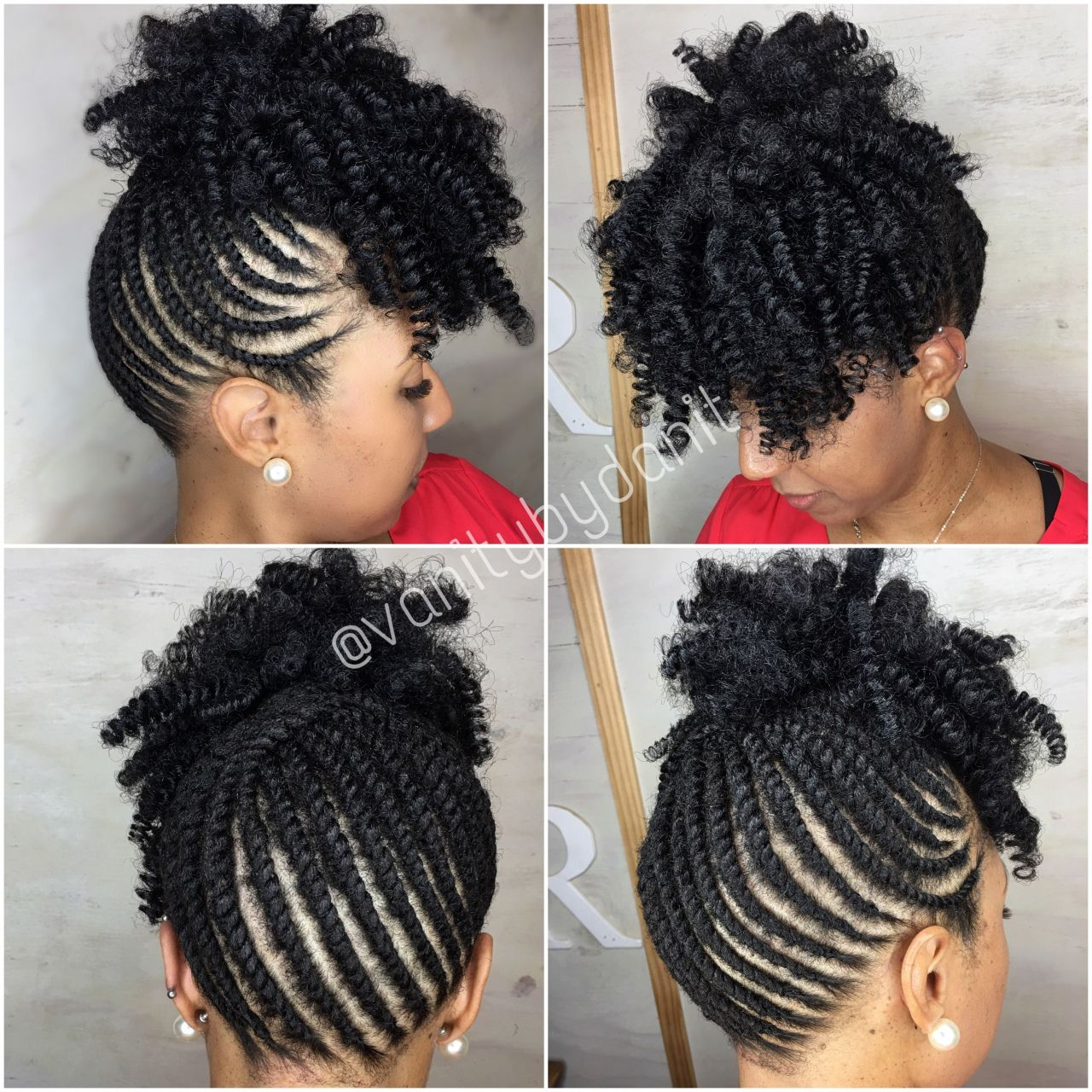 2019 African American Flat Twist Updo Hairstyles Unique Twist Up Crochet Hair Styles Crochet Cr Hair Twist Styles Braided Updo Black Hair Natural Hair Mohawk