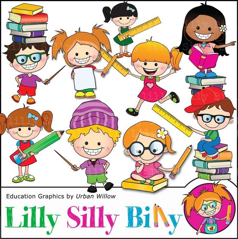 Back To School Clipart School Graphics Education And Etsy In 2021 School Clipart Back To School Clipart Clip Art