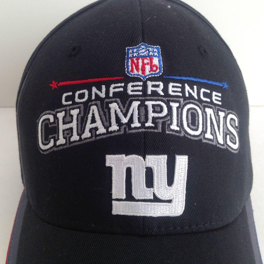 8dfee6229e1 Reebok New York Giants Super Bowl XLII Conf Champions Hat Cap Arizona 42  NFL NY  Reebok  NewYorkGiants