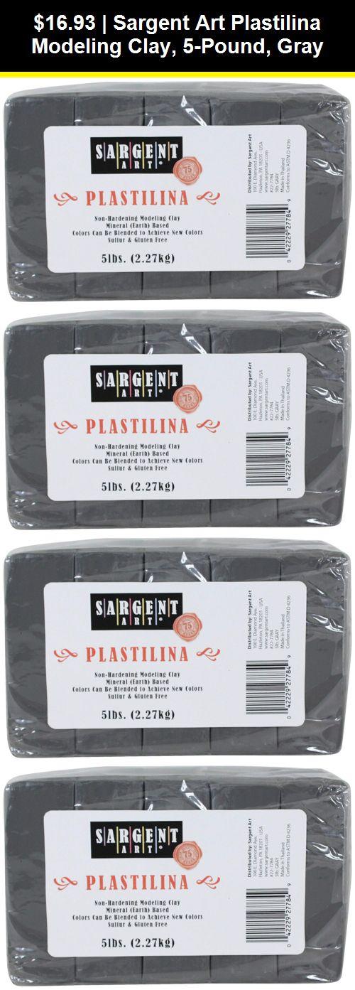 Brown 2-Pound Sargent Art Plastilina Modeling Clay