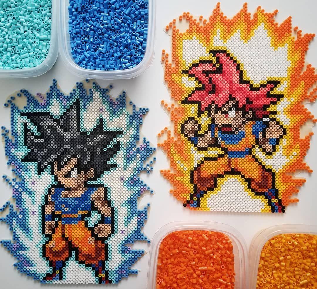 Goku Super Saiyan Blue Dragon Ball Perler Beads