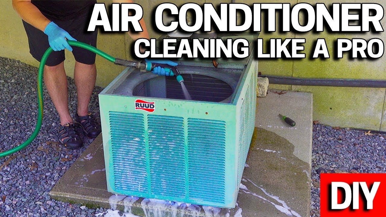 Central air conditioner condenser cleaning how to make