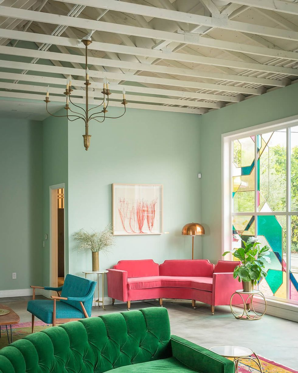 Calming Paint Colors That Will Instantly Relax You Home Interior Green Sofa