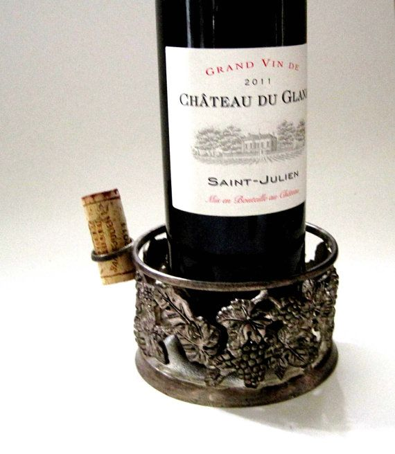 Vintage Barware Godinger Silver Plate Wine By