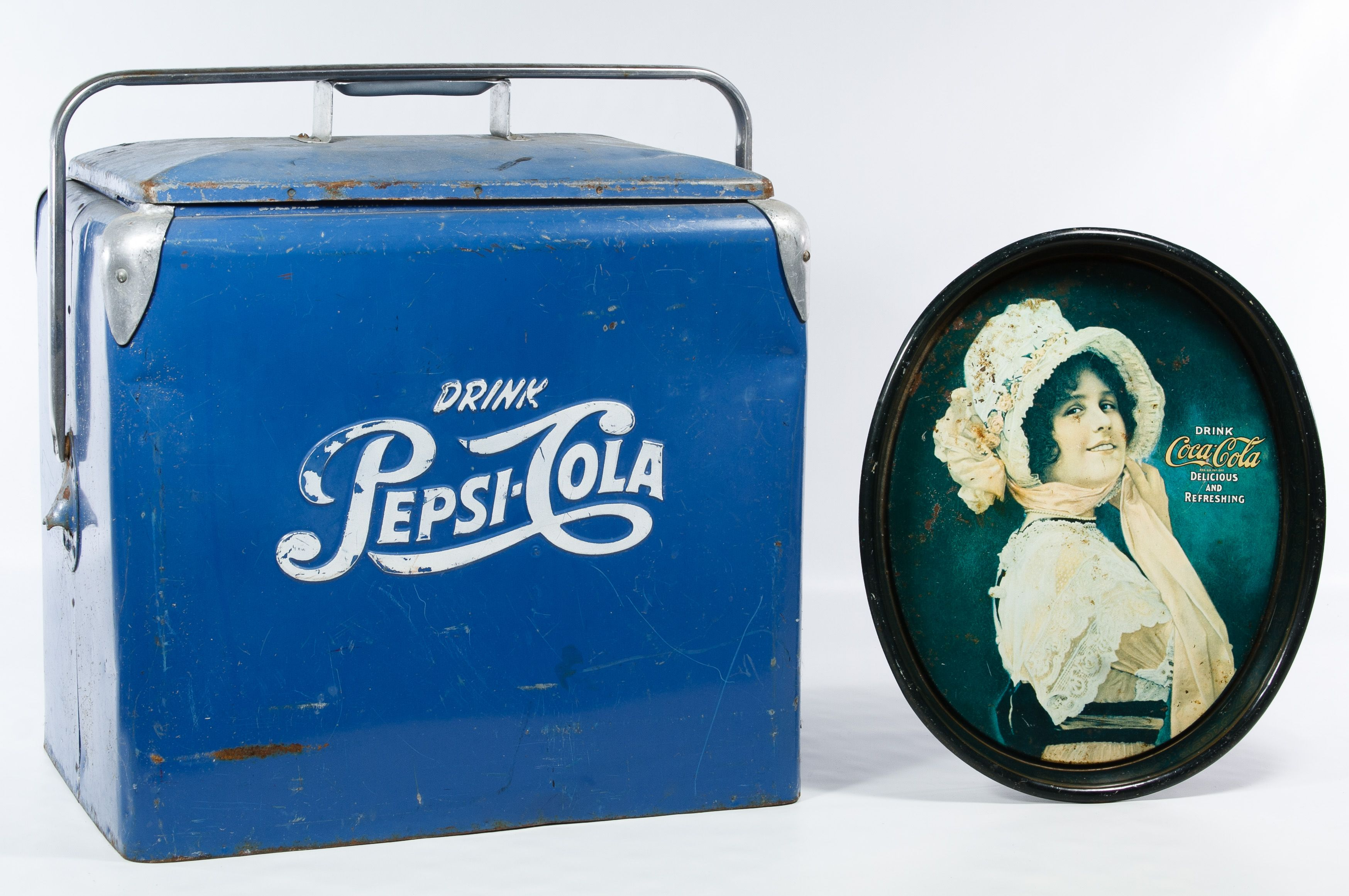 Mini Kühlschrank Pepsi : Lot pepsi advertising cooler by progressive refrigerator co