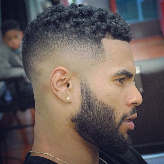 Pin by arnold on sexy pix pinterest haircut styles black man skin fade with curly hair and beard black men haircuts winobraniefo Choice Image