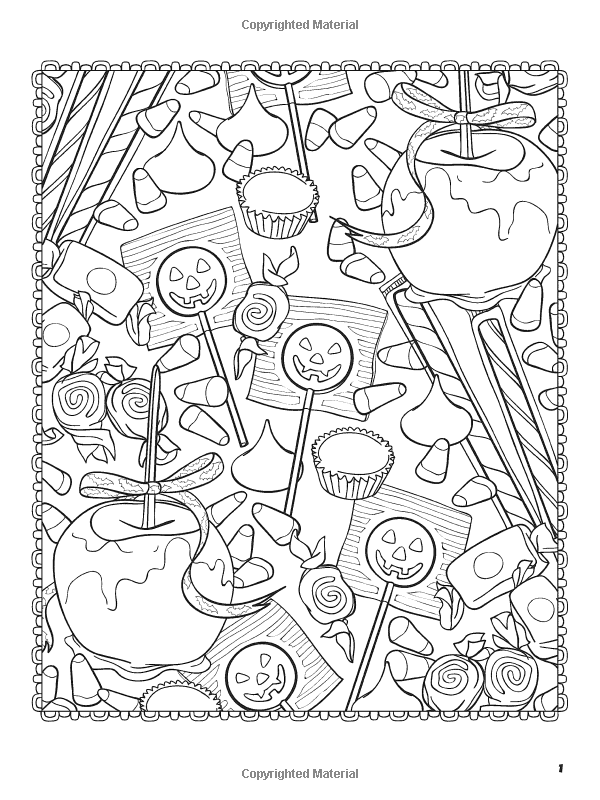 halloween food coloring pages free - photo#19