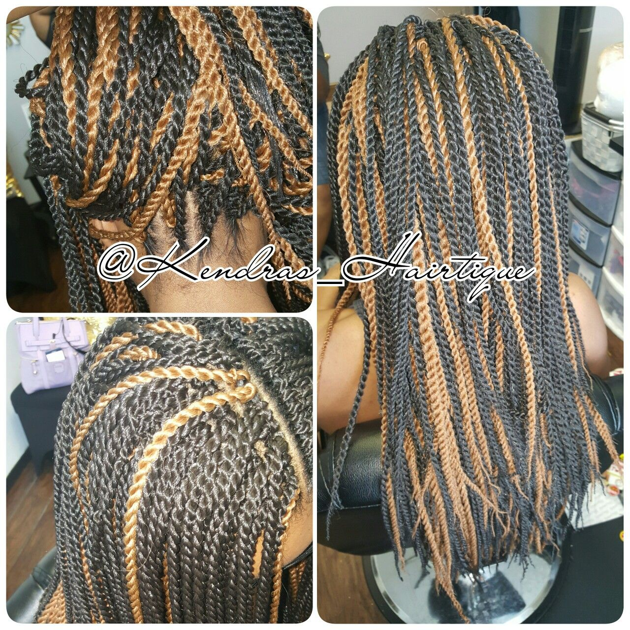 Full head of Crochet Twist! We used 3 packs of hair 16,18 and 20 inside the pack!
