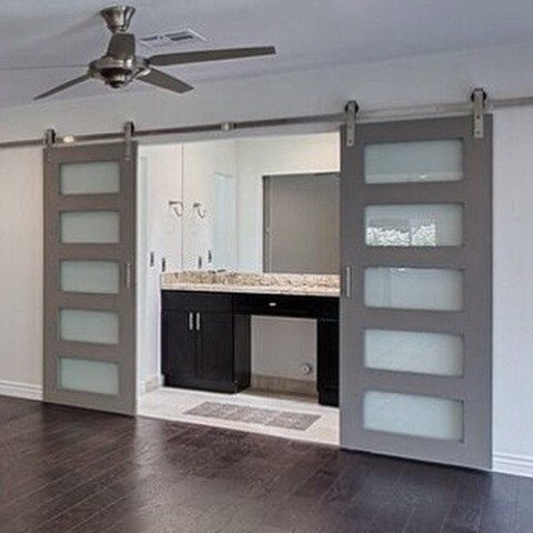 5 Panel Glass Door Barn Doors Sliding Sliding Doors Interior Doors Interior