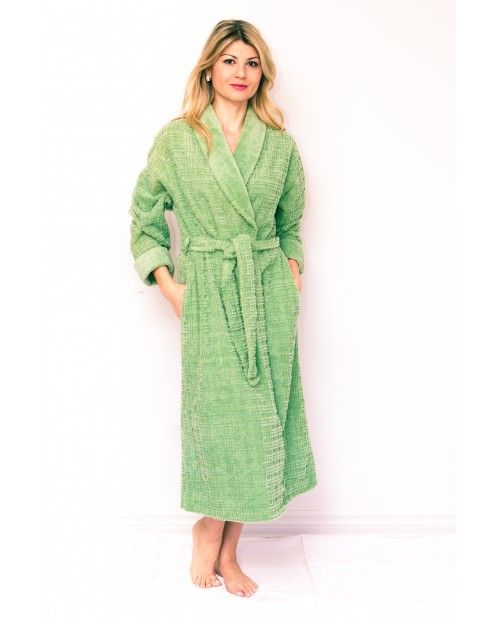 Cross-Stitch Chenille Robe Bathrobe with Shawl Collar by Bath   Robes. Plus  Size Robes   Worldwide Shipping Available! a2df56908