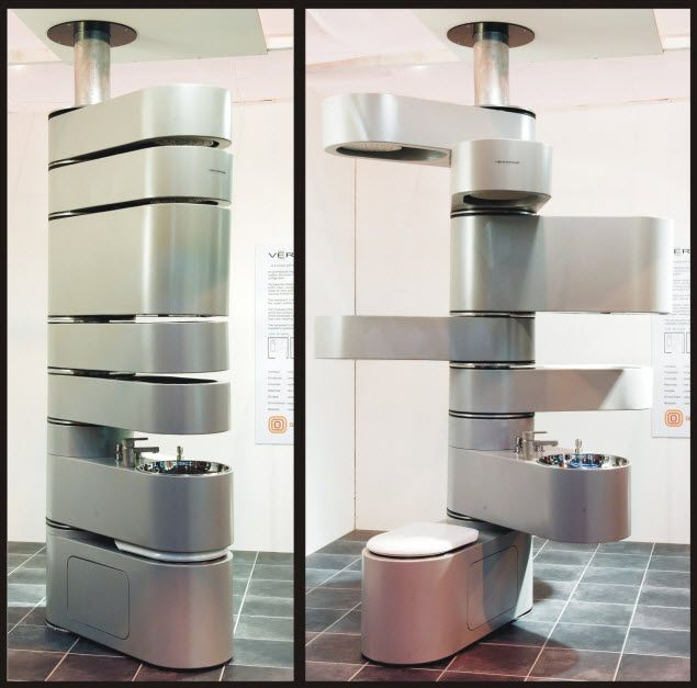 Puts Your Bathroom Fixtures In A Space Saving Swiveling