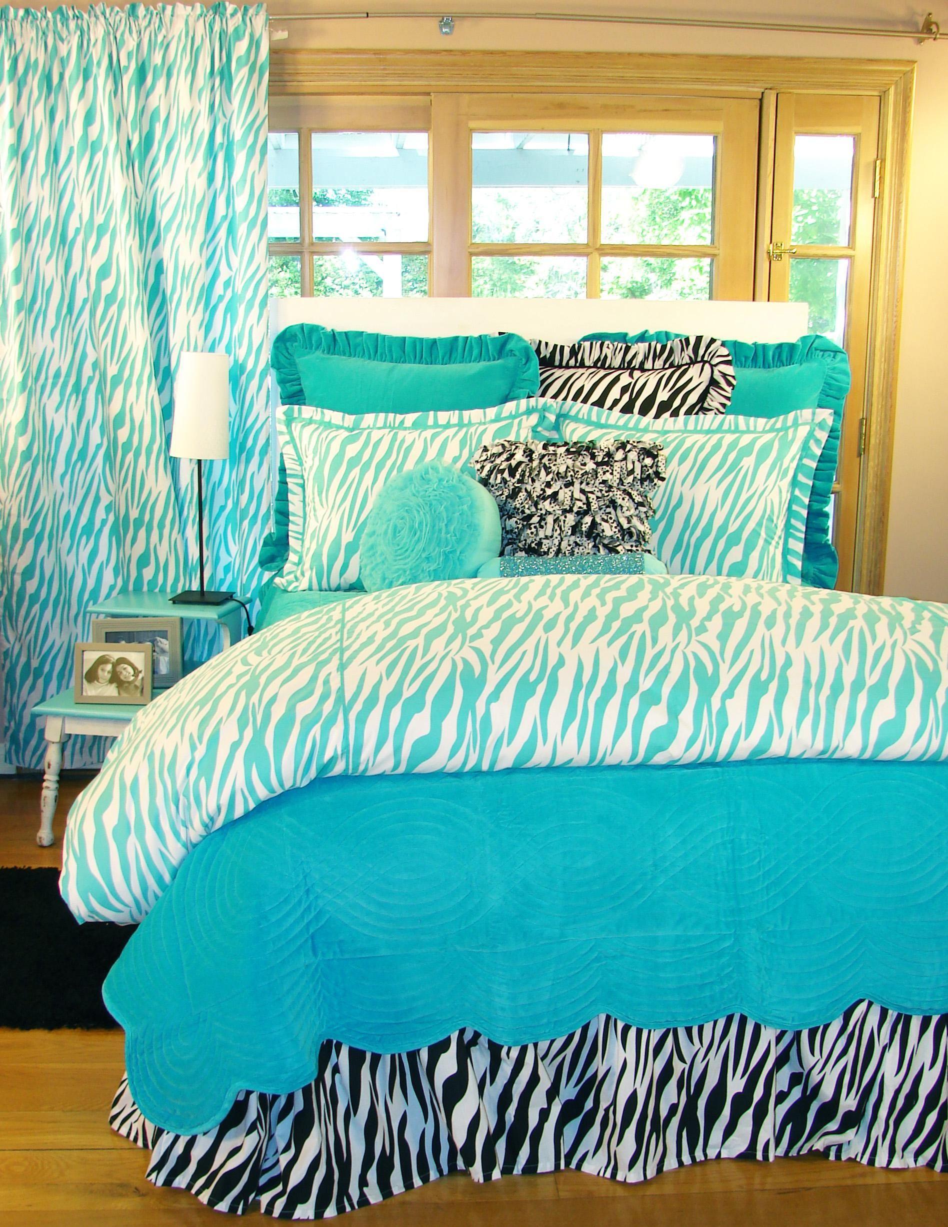 Teal Or Aqua Zebra Bedding Zebra Bedding Bedroom Decor