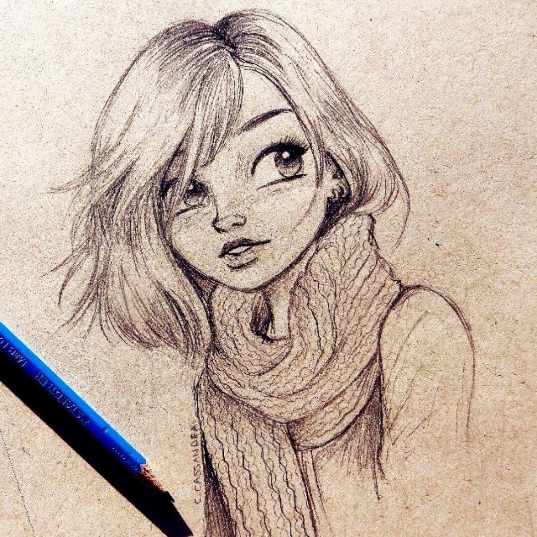 Человек рисует картинки для срисовки