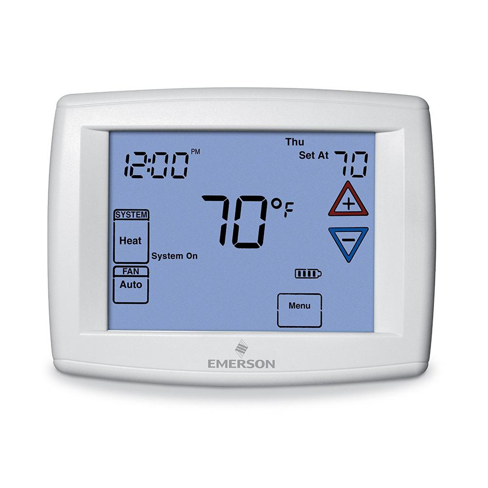 Emerson Touchscreen 7 Day Programmable Thermostat With Humidity