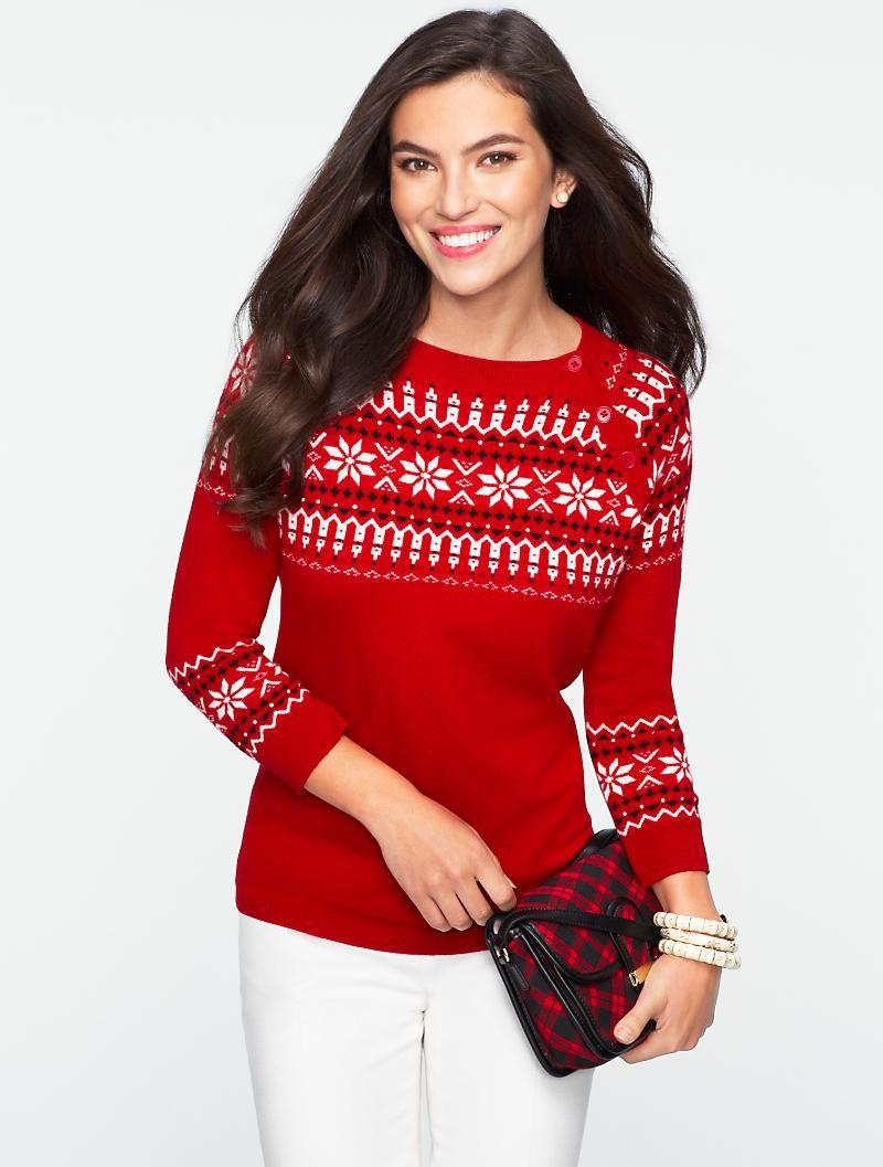 Cozy Holiday Fair Isle Pullover | punti maglia | Pinterest | Fair ...