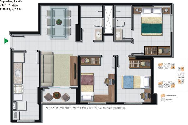 quartos de casal estreitos e compridos - Pesquisa Google