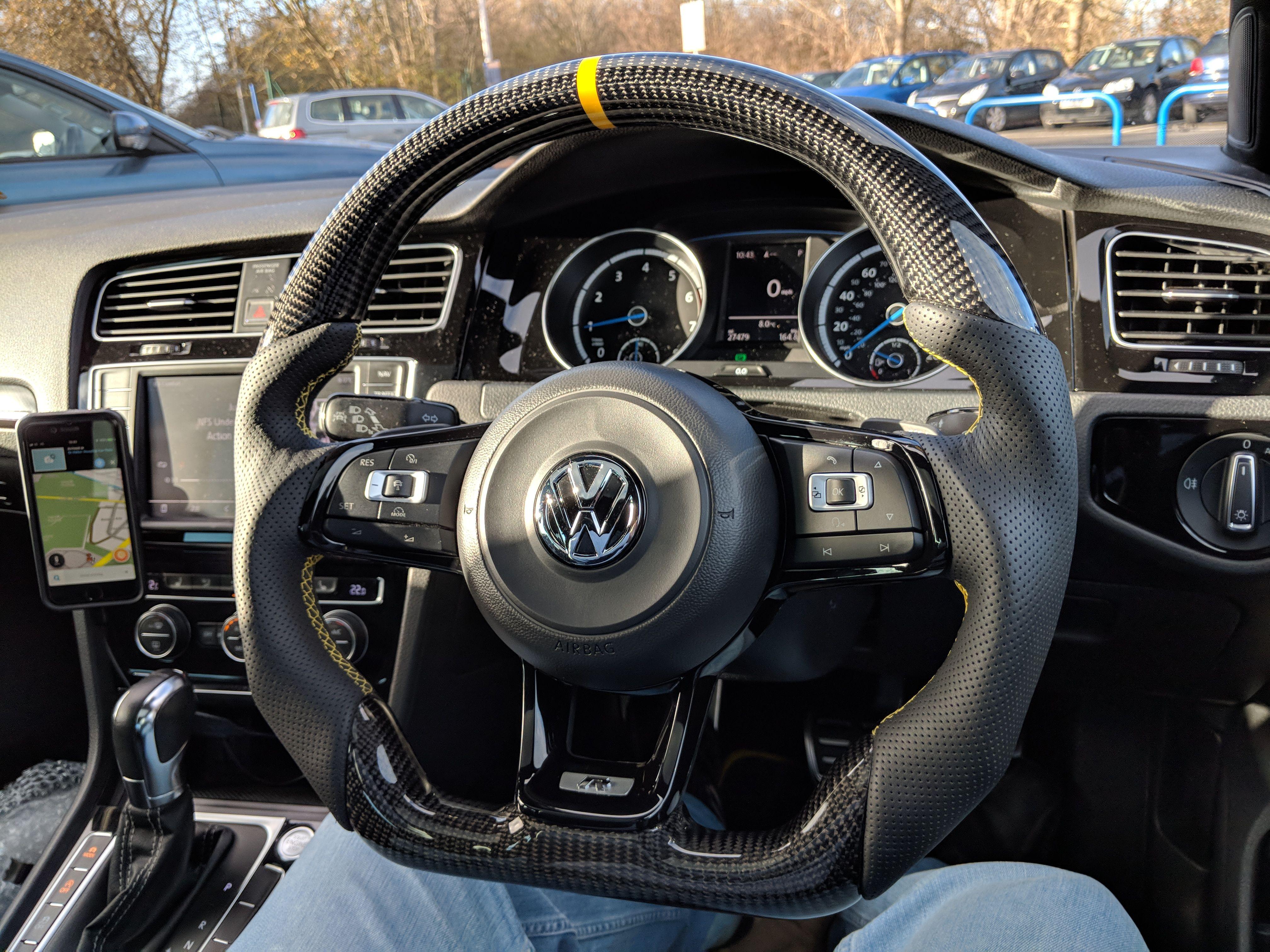 Vw Golf Mk7 R Custom Steering Wheel Now Fitted Full Reshape