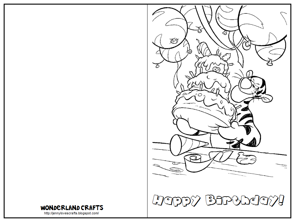 wonderland crafts greeting cards birthday Pinterest – Printable Birthday Card Template