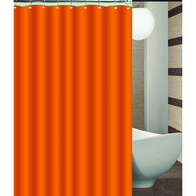 Ebern Designs Nakayama Single Shower Curtain Color Orange