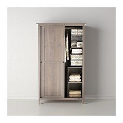 Fancy HEMNES Kleiderschrank mit Schiebet ren graubraun IKEA