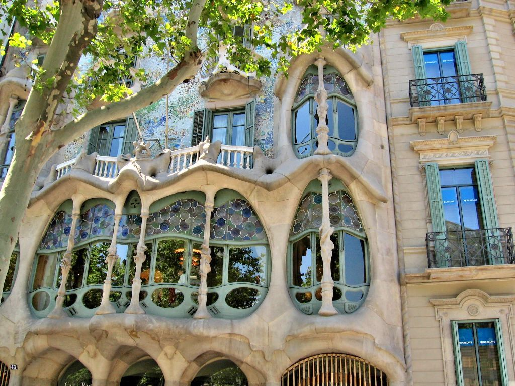 Gaudi modifyed the old building and designed fantastic