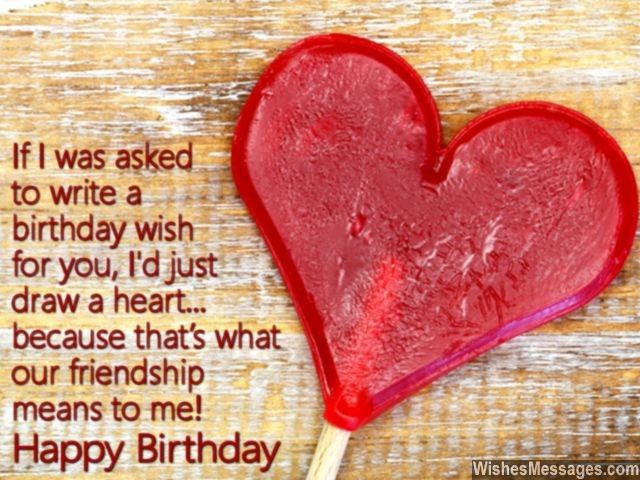 Heart Quotes With Pictures And Cards: Friendship Heart Happy Birthday Card Message For Best