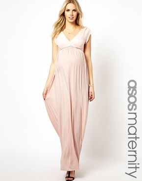 54056bf80a ASOS Maternity Exclusive Drape Maxi Dress with Ties  Beth J J Breyman this  would be perfect for preggo bridesmaids!  )