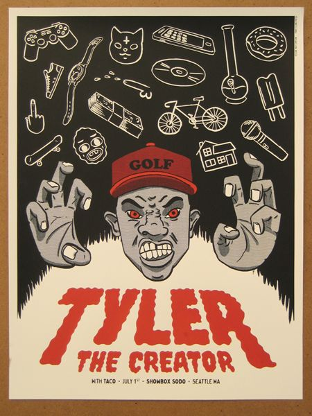 gigposters com tyler the creator design vs music in 2018