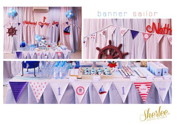 Party Design. 1st Birthday Sailor Theme. by Sherli Sukangto, via Behance