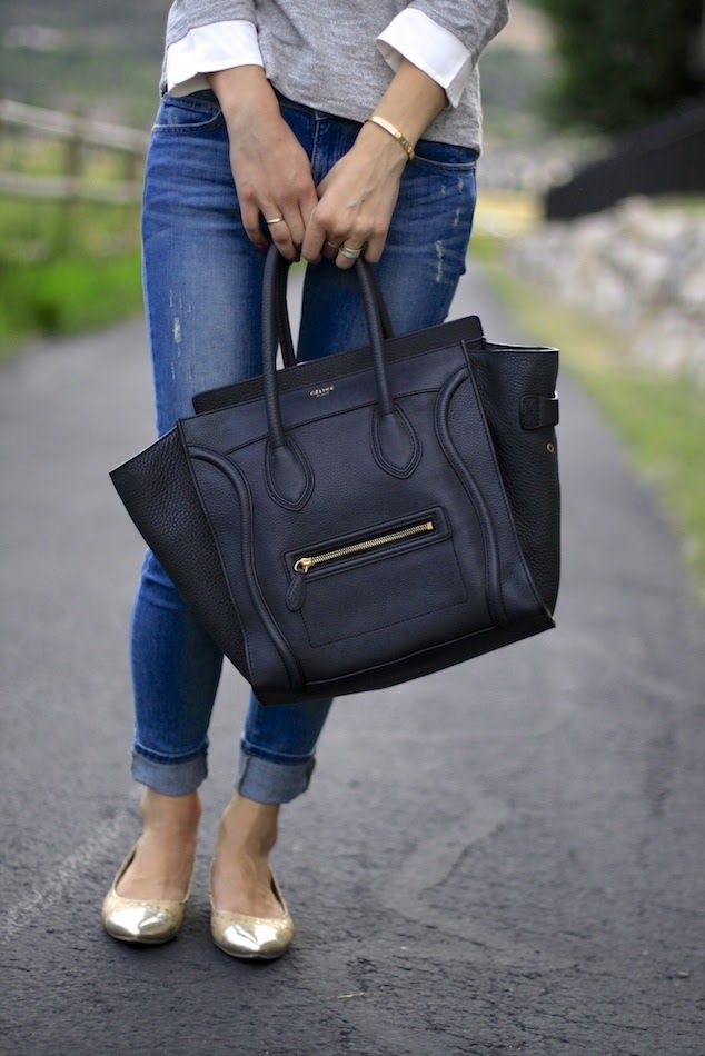 3ca77b12c2 Celine mini luggage tote- Alyssa s dream purse. Tracking this baby down was  an adventure. Mission accomplished! Life is so short...her reaction when