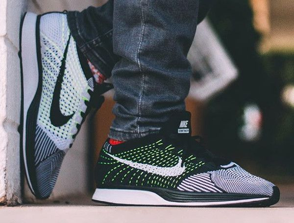 125c7a2a93d ... where can i buy acheter nike flyknit racer orca black white neon pas  cher 1 48bfc