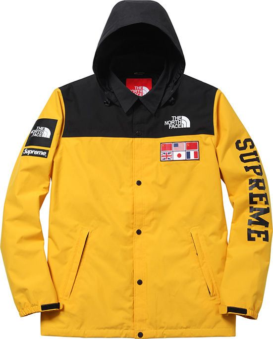The North Face X Supreme Expidition Coach Jacket North Face Mountain Jacket North Face Jacket Coach Jacket
