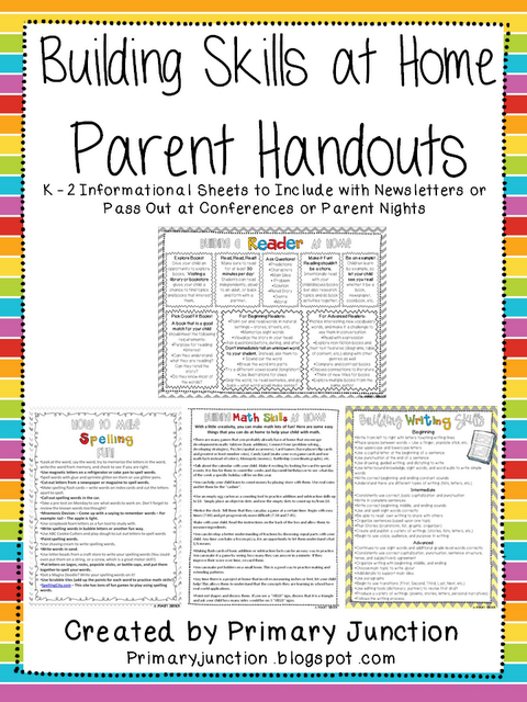 Building Skills at Home Parent Handouts - Packet contains ...