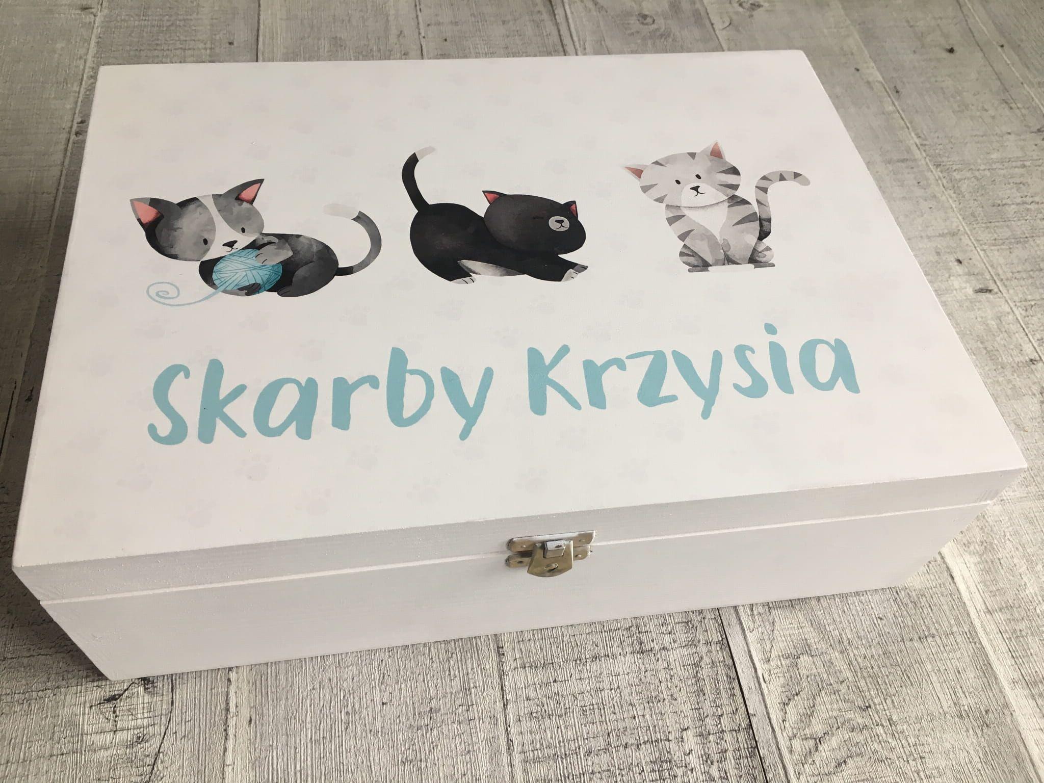 Skrzynka Na Skarby Koty Skrzynki Koty I Prezenty