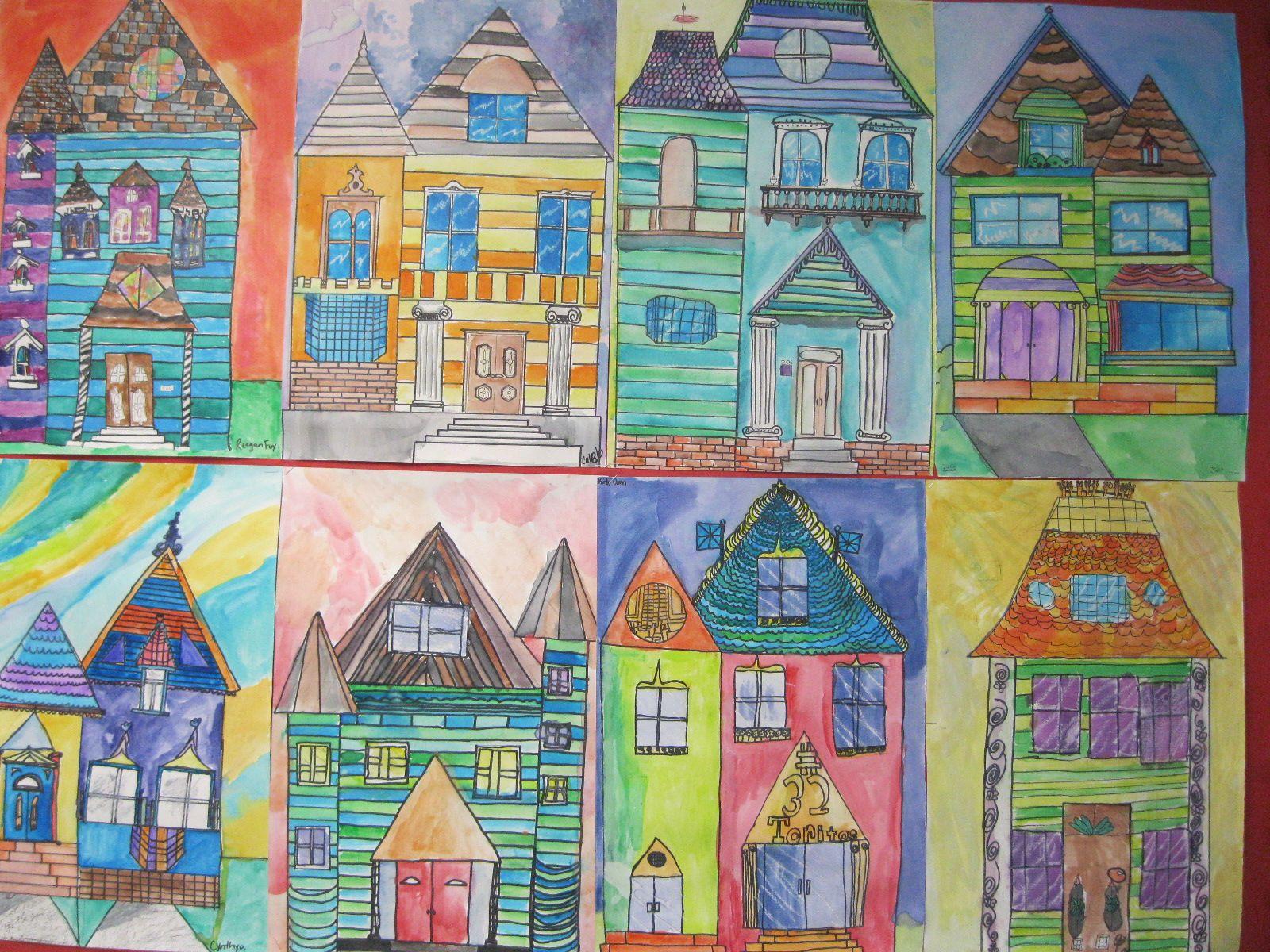 Victorian House Art Lesson