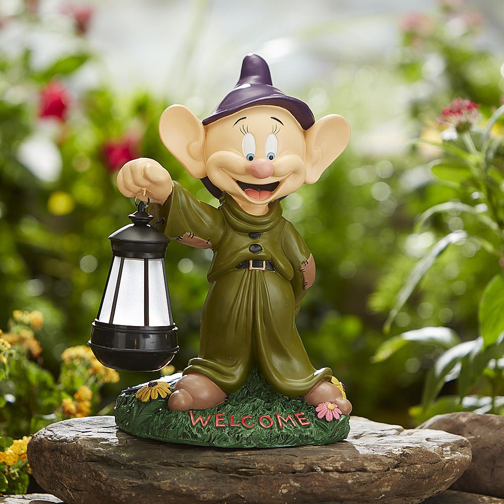 Disney Garden Statues With Solar Lantern From Kmart Disney